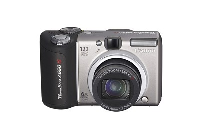 Powershot A650 IS 12MP Digital Camera (Silver)