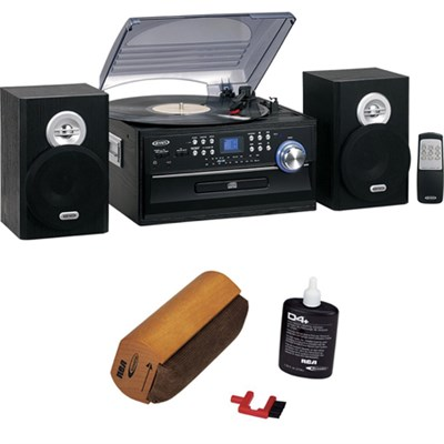3 Speed Stereo Turntable w CD System, Cassette & AM/FM Stereo Radio With RCA Tur