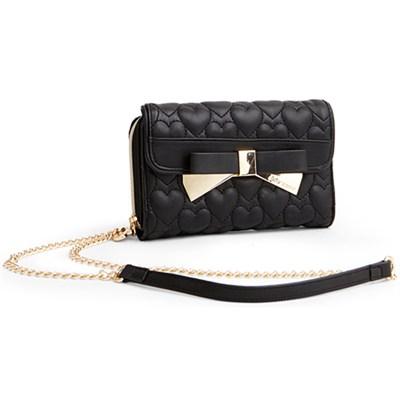 Be Mine Wallet on a String - Black