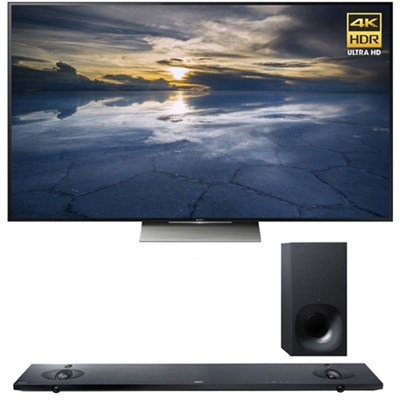 XBR-65X930D 65-Inch 4K UHD TV with Sony HTNT5 Sound Bar