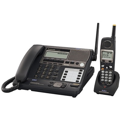 KX-TG4500B Expandable 4 Line 5.8 GHz Cordless Phone System - OPEN BOX