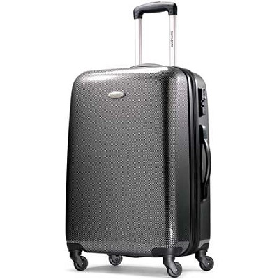 Winfield Fashion Lightweight 28` Hardside Spinner Luggage - Black/Silver