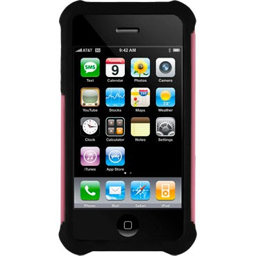 iPhone 4/4S Ballistic Shell Gel (SG) Series Case - Black/Pink