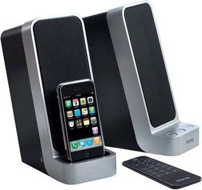 iP71 Computer Stereo System with Dock for iPod (Silver)