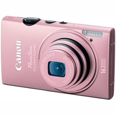 PowerShot ELPH 110 HS 16.1MP CMOS Pink Digital Camera 5x Opt Zoom 1080p HD Video