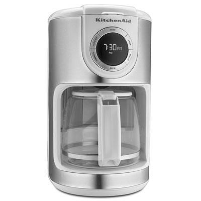 12-Cup Glass Carafe Coffee Maker in White - KCM1202WH