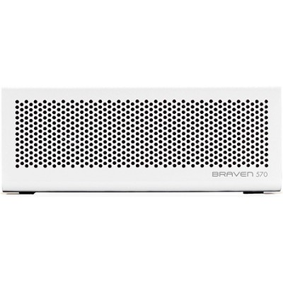 570 Portable Bluetooth Speaker, Speakerphone, and Charger (White) BZ570WBP