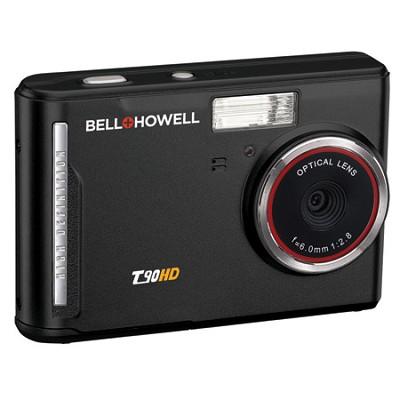 T90HD 12MP HD Video 2.7-inch TouchScreen 5X Zoom Digital Camera - Black