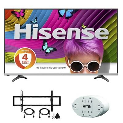H8 50H8C 50` 4K UHD Smart LED TV Built-In Wi-Fi w/ accessory bundle
