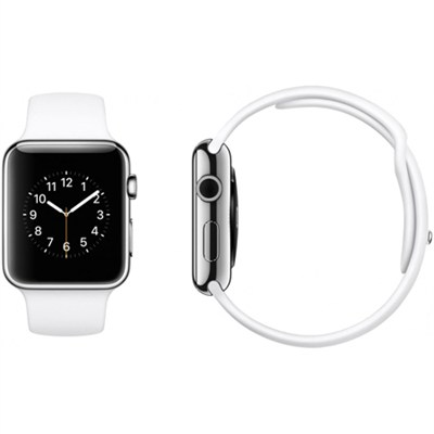 Apple Watch Sport 42mm Silver Aluminum Case - White Sports Band