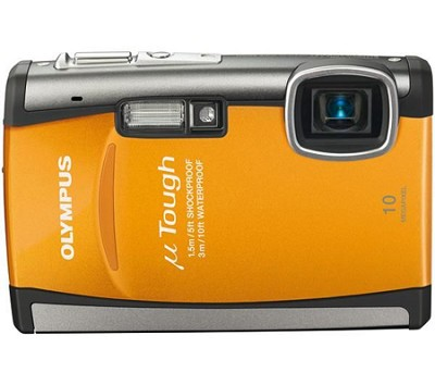Stylus Tough 6000 10MP 2.7` LCD Digital Underwater Camera (Orange)