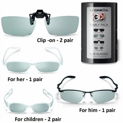 AG-F216 3D Glasses - Family Pack