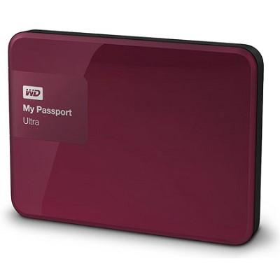 My Passport Ultra 500 GB Portable External Hard Drive, Berry