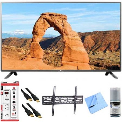 50LF6000 - 50-Inch Full HD 1080p 120Hz LED HDTV Plus Tilt Mount & Hook-Up Bundle