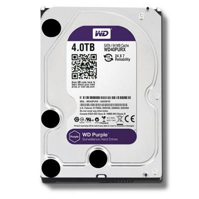 Purple WD40PURX 4TB Surveillance 3.5` Internal Hard Drive