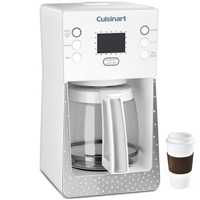 SCC-1000W Crystal 14-Cup Programmable Coffeemaker with Swarovski Elements White