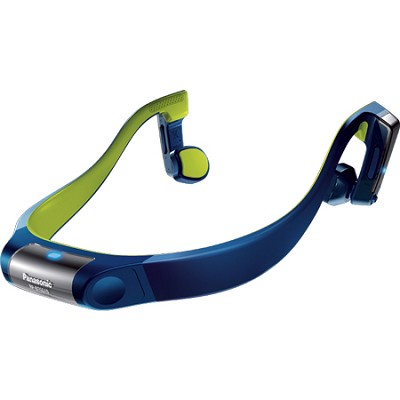 Premium Bluetooth Wireless Water-Resistant Open-Ear Headphones, Blue/Yellow