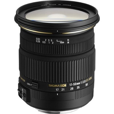 17-50mm f/2.8 EX DC OS HSM FLD Standard Zoom Lens for Canon DSLR Cam. - OPEN BOX