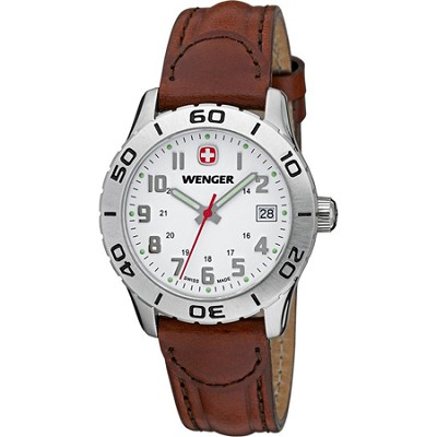 Women's Grenadier White Dial Brown Leather Watch