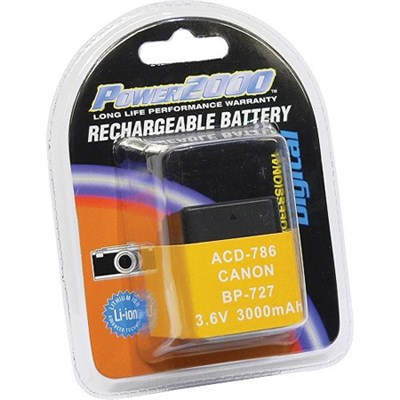 Replacement Battery for Canon BP-727