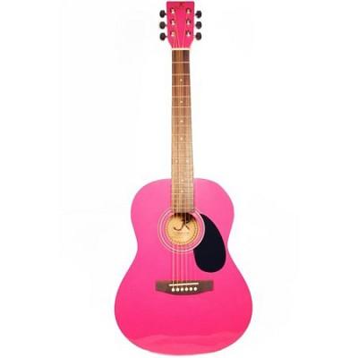 JR14PK 36-Inch Acoustic Guitar - Pink