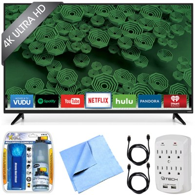 D58u-D3 D-Series - 58-Inch 120Hz 4K Ultra HD LED Smart HDTV Essentials Bundle