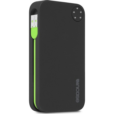Portable Power 5400 USB Charger - Black Matte/Fluro Green
