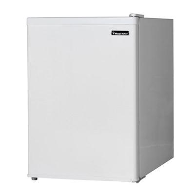 2.4 Compact Refrigerator Mini Bar Office Fridge with Freezer - White