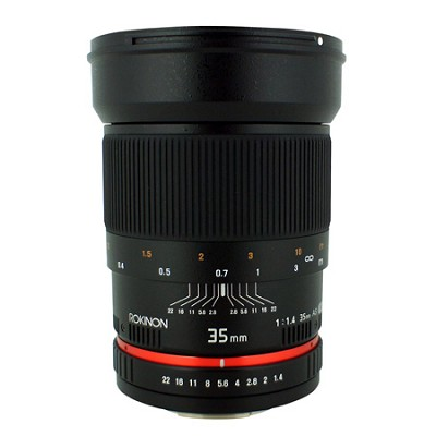 35mm f/1.4 Wide-Angle US UMC Aspherical Lens for Canon - OPEN BOX