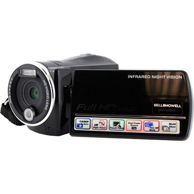 DNV900HD Camcorder 1080p Infrared HD 16MP 3.0 LCD Night Vision Motion - OPEN BOX