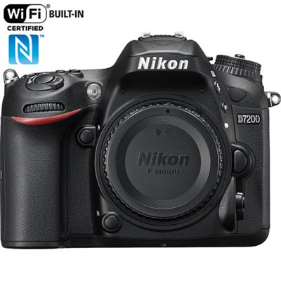 D7200 DX 24.2MP Digital SLR Camera Body with WiFi NFC - Manufacturer Refurbished