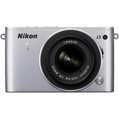 1 J3 14.2MP Silver Digital Camera with 10-30mm VR Lens