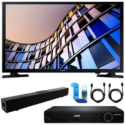 27.5` 720p Smart LED TV (2017) w/ HDMI DVD Player & Sound Bar Bundle