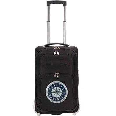 MLB 21-Inch Carry On Luggage, Black - Seattle Mariners