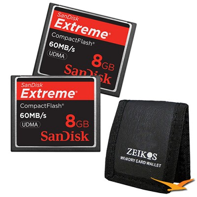 8 GB Extreme CompactFlash Double Memory Card Bundle