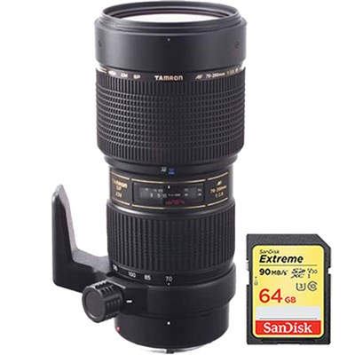 SP AF70-200mm F/2.8 Di LD [IF] Macro for Nikon USA Warranty w/ 64GB Memory Card