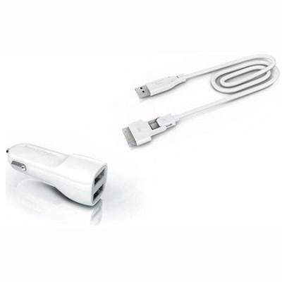 mMini Combo - Duo USB Car Charging Kit with Magic Cable Duo - TADP-10BC AA2