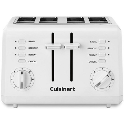 Compact 4 Slice Toaster - White