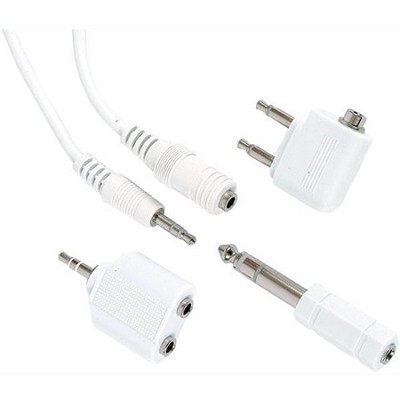 Headphone Adapter Kit Including Airplane Adapter, Headphone Splitter Etc (20101)