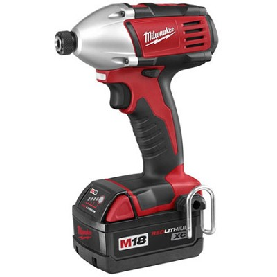2650-22 M18 Cordless LITHIUM-ION 1/4` Hex Compact Impact Driver With 2 Batteries