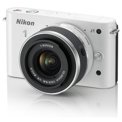 J1 Mirrorless Digital Camera w/ 10-30mm VR Lens (White) Factory Refurbished