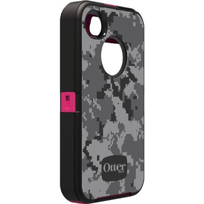 Defender Series Case for iPhone 4/4S - Urban Camo Pink