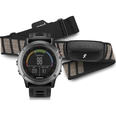 fenix 3 Multisport Training GPS Watch with Heart Rate Monitor - Gray