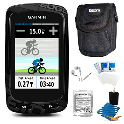 Edge 810 Cycling Computer GPS Device with Case and Warranty Bundle