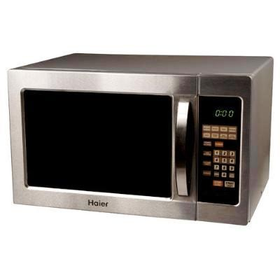Compact Stainless Steel Microwave