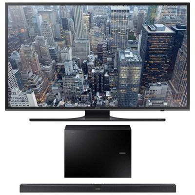 UN60JU6500 - 60-Inch 4K Ultra HD Smart LED HDTV + HWJ550 Soundbar