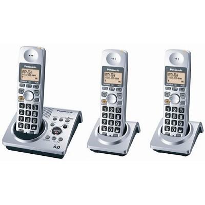 KX-TG1033S Dect 6.0, Digital 3 Handset Expandable Cordless Phone System