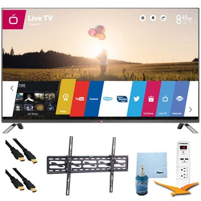 60LB7100 - 60` 1080p 240Hz 3D LED Smart HDTV Plus Tilt Mount & Hook-Up Bundle