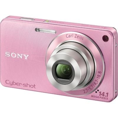 Cyber-shot DSC-W350 14.1 MP Digital Camera (Pink) - Open Box