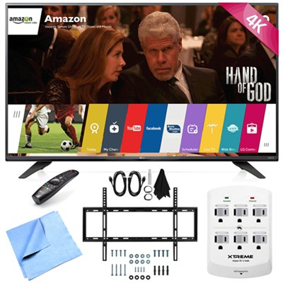 60UF7700 - 60-inch 240Hz 2160p 4K Smart LED UHD TV w/ WebOS Mount/Hook-Up Bundle